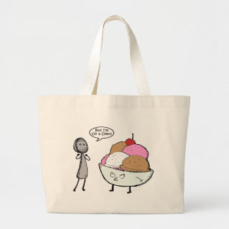 I'm on a Diet Large Tote Bag