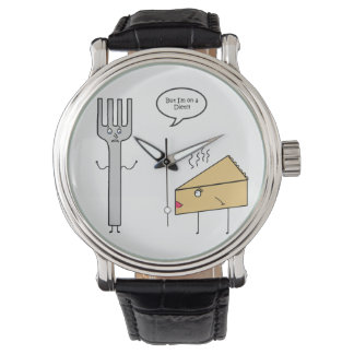 I'm On a Diet Leather Watch