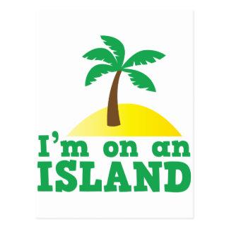 I'm on an island postcard