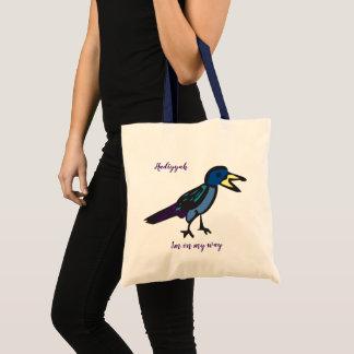 I'm on my way birdie tote bag