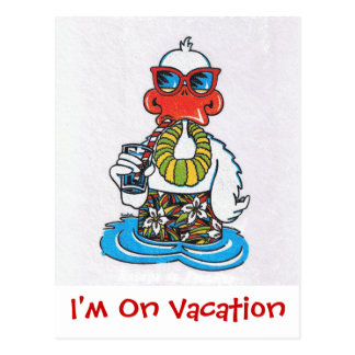 I'm On Vacation Postcard