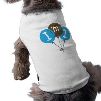 I'm One 1st Birthday Blue Balloon Gift Shirt