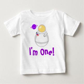 I'm One Baby Astronaut Tee Shirt Gift