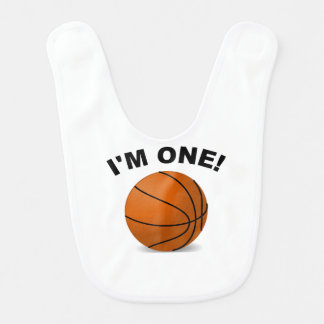 I'm One Basketball Bib