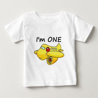 I'm One, Yellow Plane Baby T-Shirt