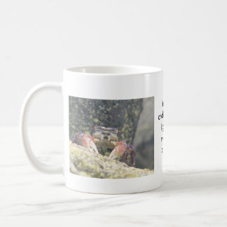I'm only crabby until I get my morning coffee. Classic White Coffee Mug