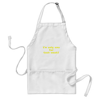 Im Only Emo for Tech Week Standard Apron