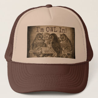 """I'm Owl In"" (All In) Humorous Poker Trucker Hat"
