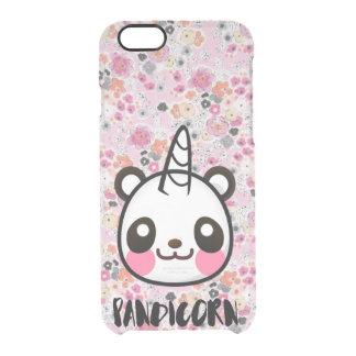 Im Pandicorn Cute Panda Unicorn Pink Floral Animal Clear iPhone 6/6S Case