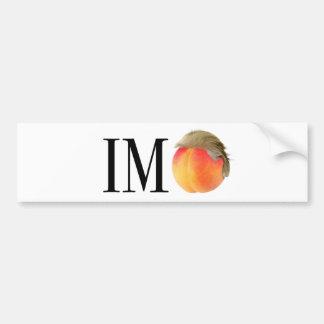 Im Peach TRUMP Bumper Sticker