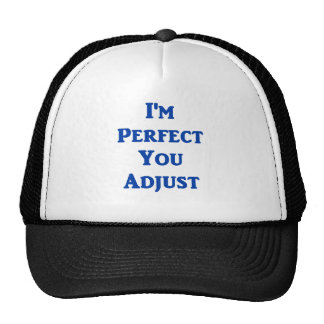 I'm Perfect You Adjust Trucker Hat