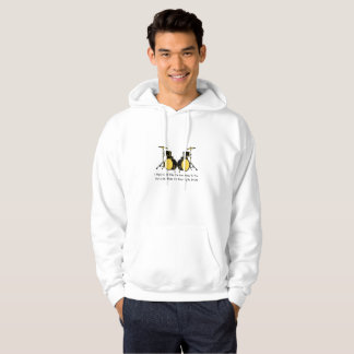 I'm Playing My Drums Drummer Music Hoodie