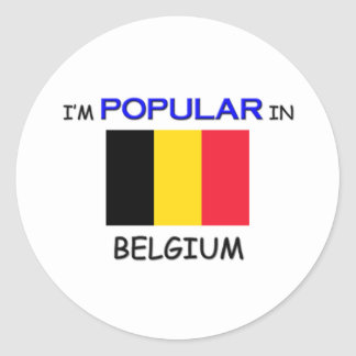 I'm Popular In BELGIUM Round Stickers