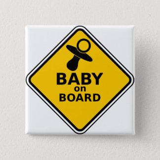 I'm pregnant Baby Bump Button/ Badge 2 Inch Square Button