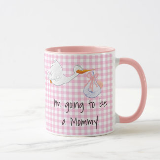 Im Pregnant, Stork Pregnancy Announcement Mug