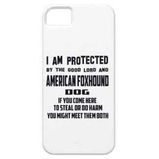 I'm protected by good lord and American Foxhound d iPhone 5 Case
