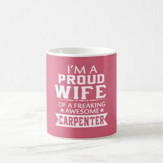 I'M PROUD CARPENTER'S WIFE COFFEE MUG
