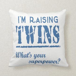 I'm Raising Twins Throw Pillow