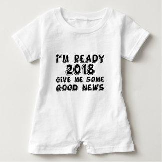 I'm ready 2018 baby romper