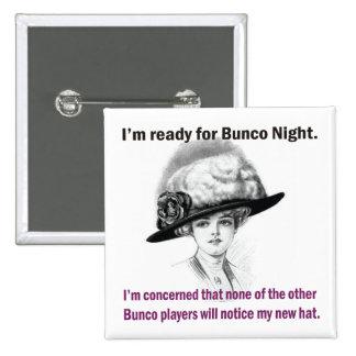 i'm ready for Bunco night. 2 Inch Square Button