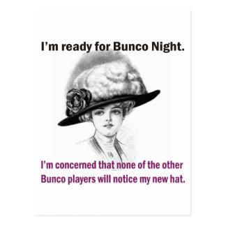 i'm ready for Bunco night. Postcard