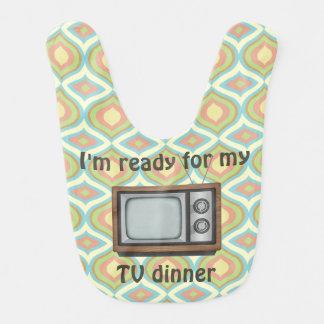 """I'm Ready for my TV Dinner"" Retro TV Bib"