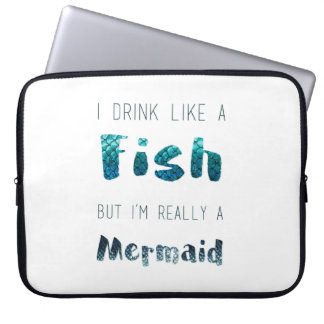 I'm Really A Mermaid, Funny Quote Laptop Sleeve