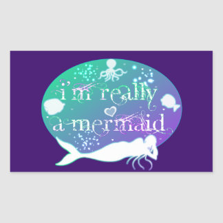 I'm really a mermaid products sticker