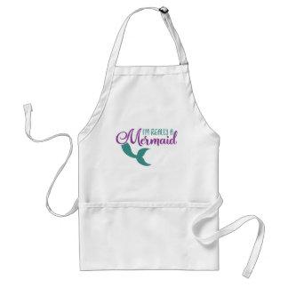 I'm really a Mermaid Purple Teal Glitter Texture Standard Apron