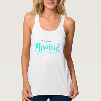 I'M REALLY A MERMAID Trendy Modern Summer Tank Top