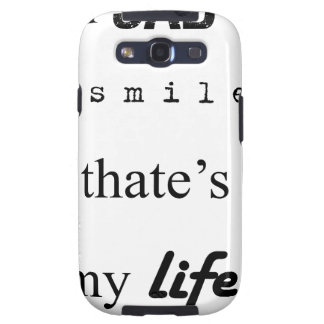 i'm sad but i smile. that's my life2 galaxy s3 cover