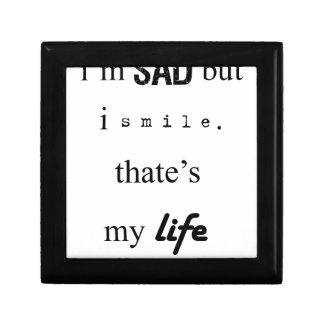 i'm sad but i smile. that's my life2 gift box