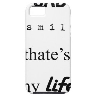 i'm sad but i smile. that's my life2 iPhone 5 case