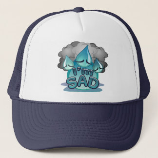 I'm Sad navy Trucker Hat