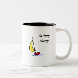 I'm Sailing Away Two-Tone Coffee Mug