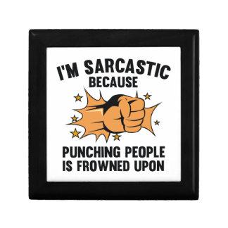 I'm Sarcastic Keepsake Box