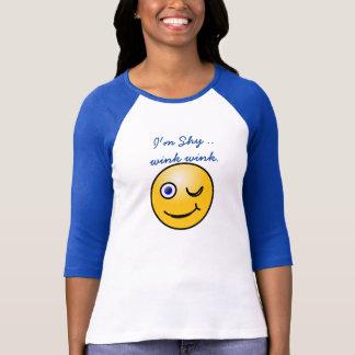 I'm shy ...wink wink _ Ladies summer t-shirt