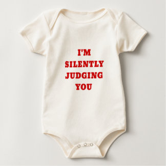 Im Silently Judging You Baby Bodysuit