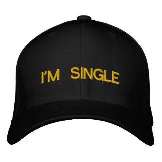 I'M SINGLE EMBROIDERED BASEBALL CAP