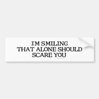 I'm Smiling That Alone Bumpersticker Bumper Sticker