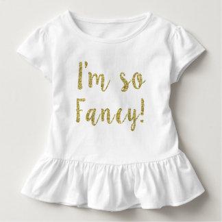 I'm so Fancy Glitter Toddler ruffle tee for girls