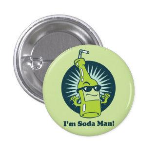 I'm Soda Man! Funny Wordplay Flair Button