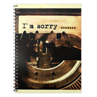 I'M SORRY OLD-FASHIONED TYPEWRITER APOLOGY EXPRESS NOTE BOOK