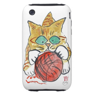 I'm Stuck on the Yarn Meows Kitten iPhone 3 Tough Cases