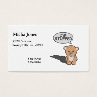 I'm Stuffed Teddy Bear Business Card