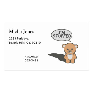 I'm Stuffed Teddy Bear Pack Of Standard Business Cards