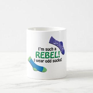 I'm such a rebel, I wear odd socks! Coffee Mug