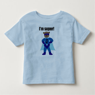 I'm Super (blue) Toddler T-shirt