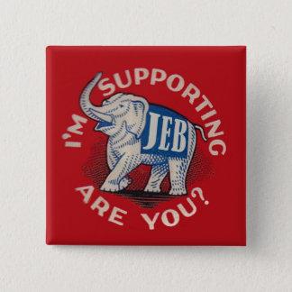 I'm Supporting Jeb 2 Inch Square Button