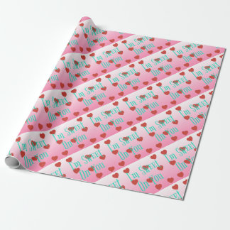 I'm Sweet On You   Custom Valentine's Day Hearts Wrapping Paper